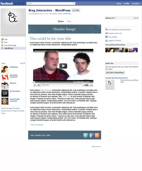 WordPress to Facebook iFrame