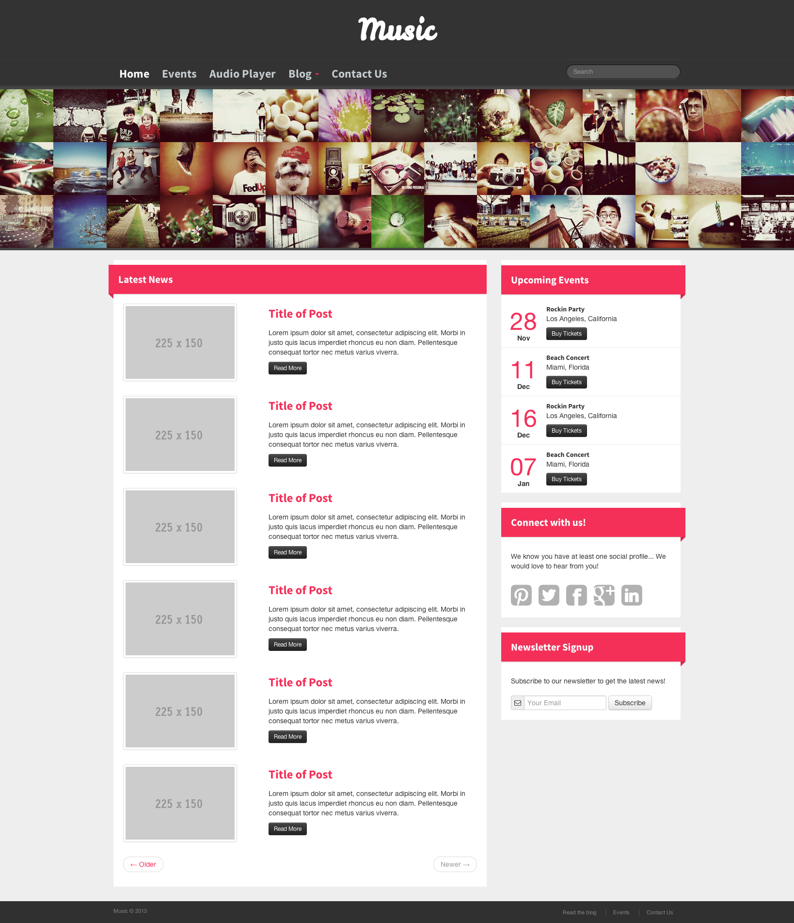 bootstrap music template