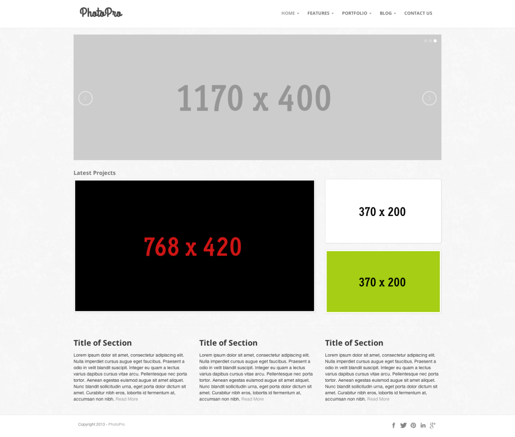 Bootstrap Photo Template