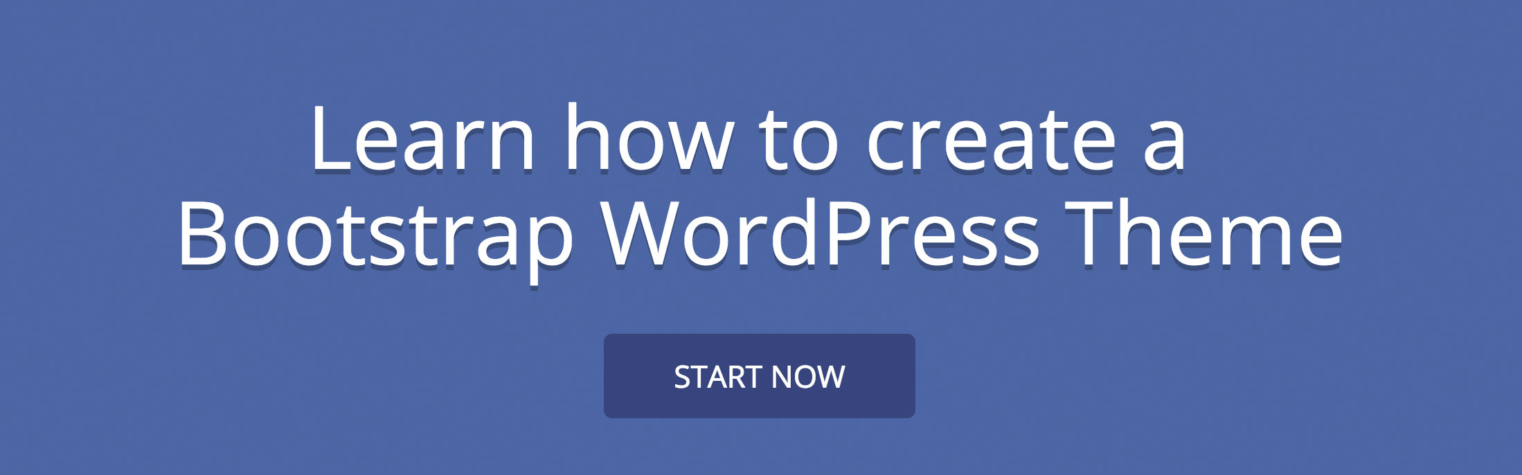 Create Bootstrap WordPress Theme