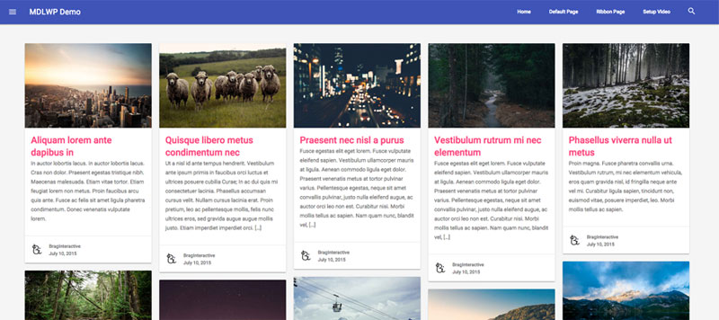 Material Design - Pinterest Layout