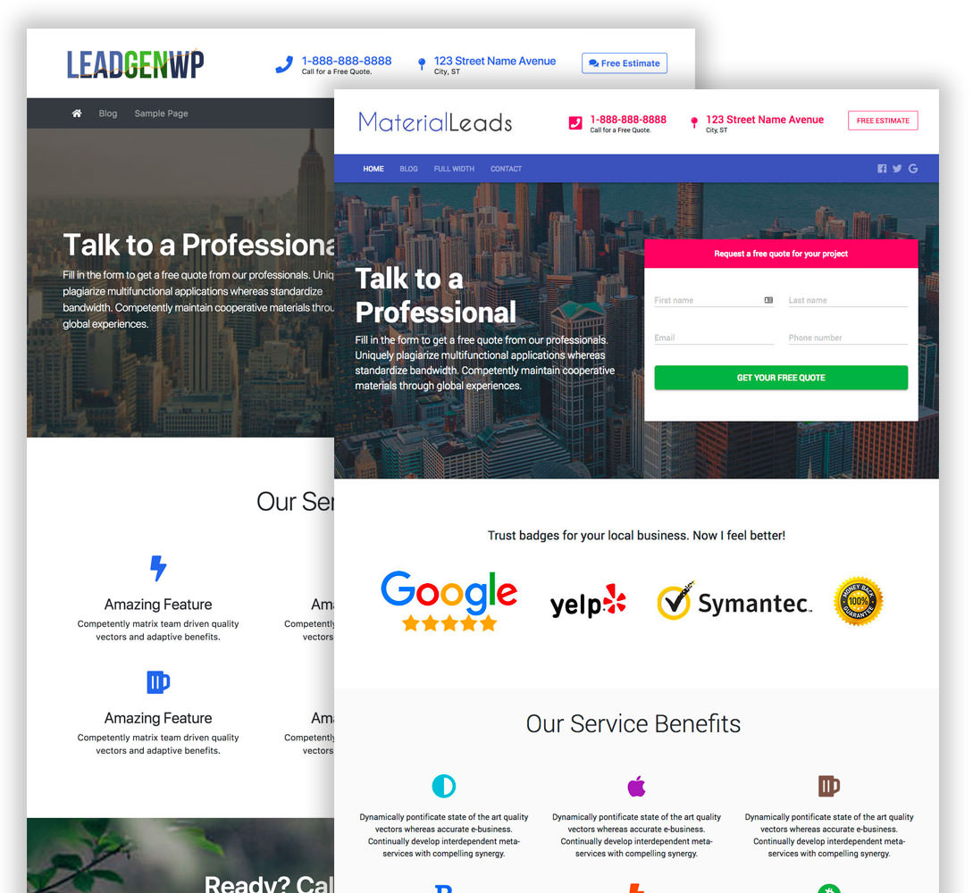 Lead Generation WordPress Themes